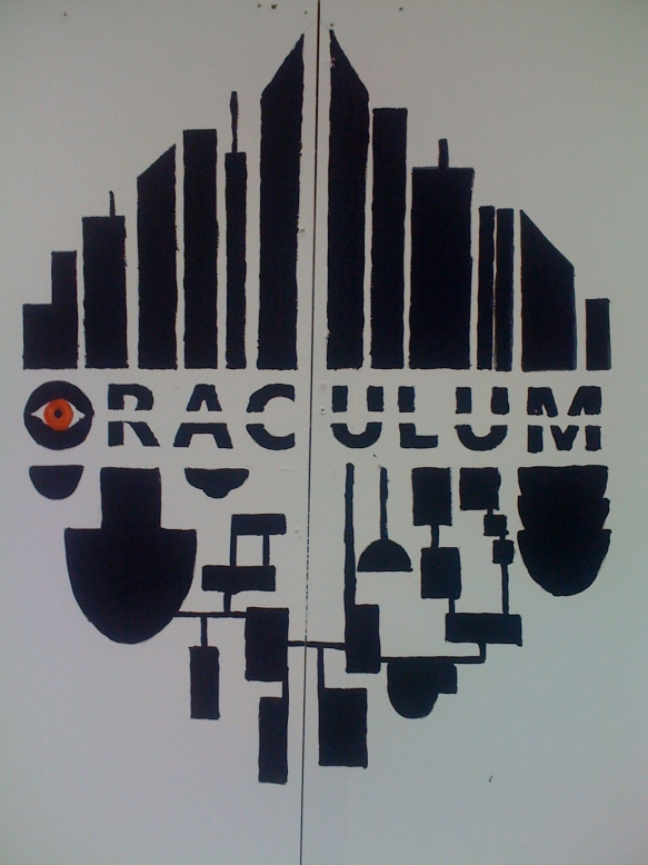 Oraculum booth - Painted logo
