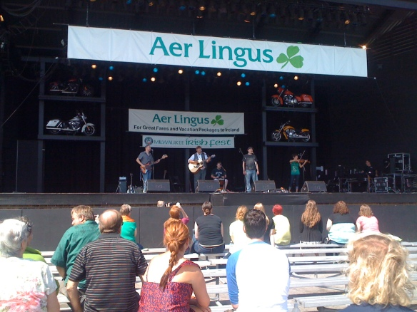 Tallymoore performing on the Aer Lingus stage on Sunday.